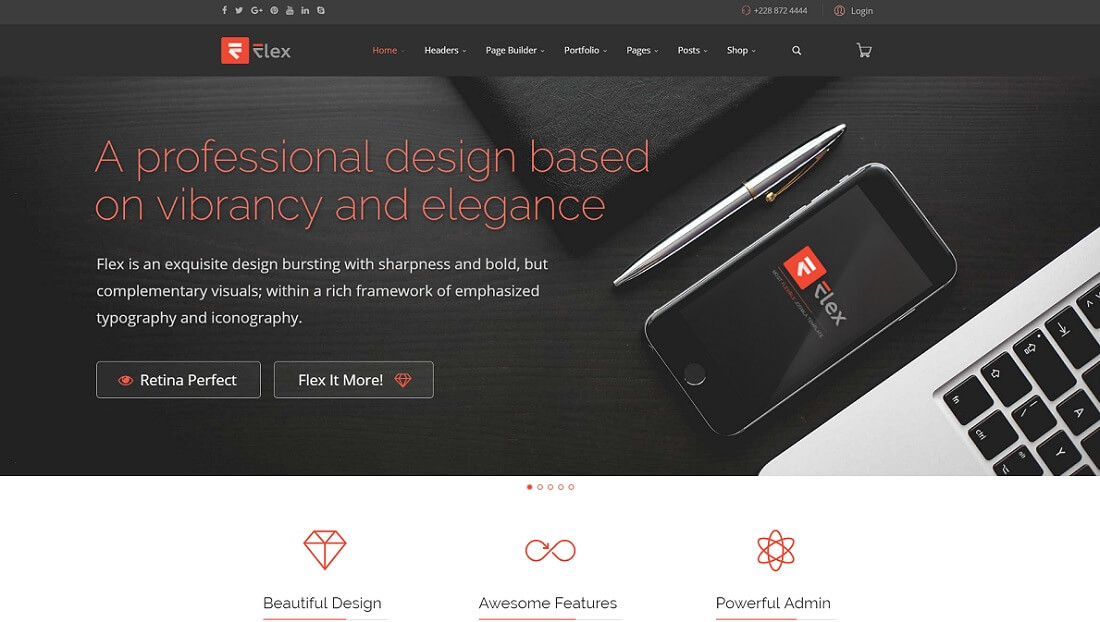 flex joomla business template