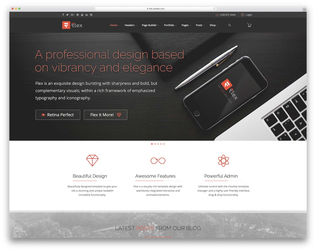 flex multi purpose joomla portfolio template