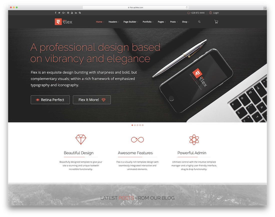 flex multipurpose joomla business template