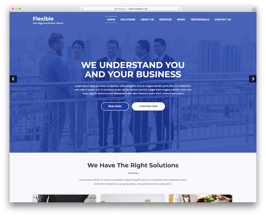 flexibled free wordpress theme