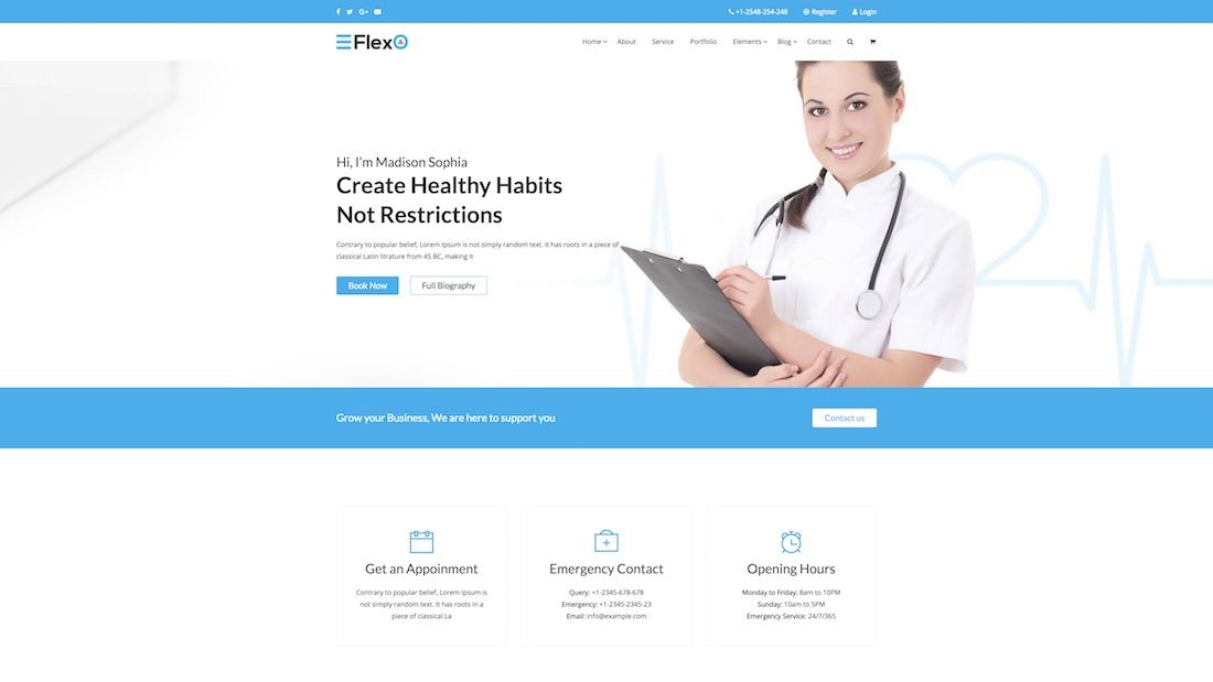 flexo website template