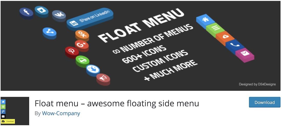 float menu wordpress plugin
