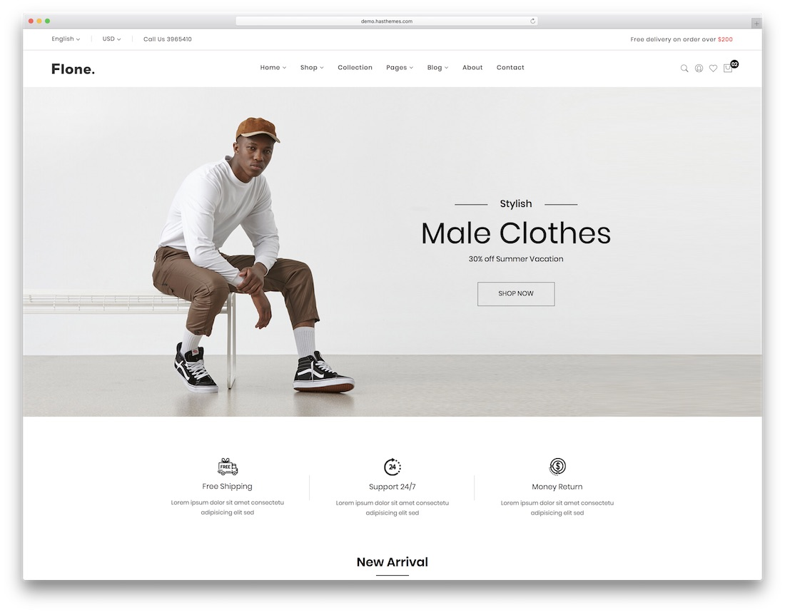 flone ecommerce website template