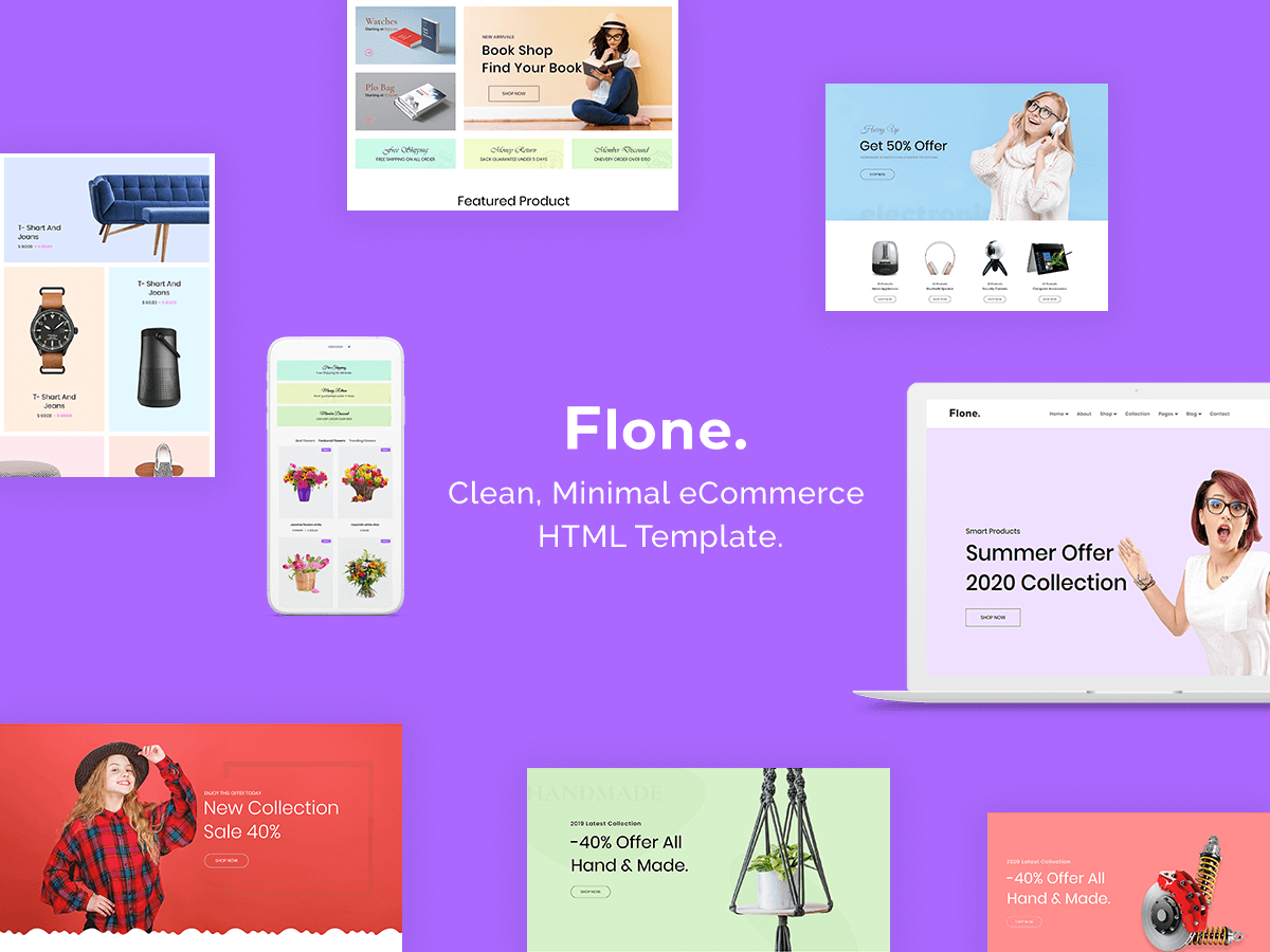 flone html template