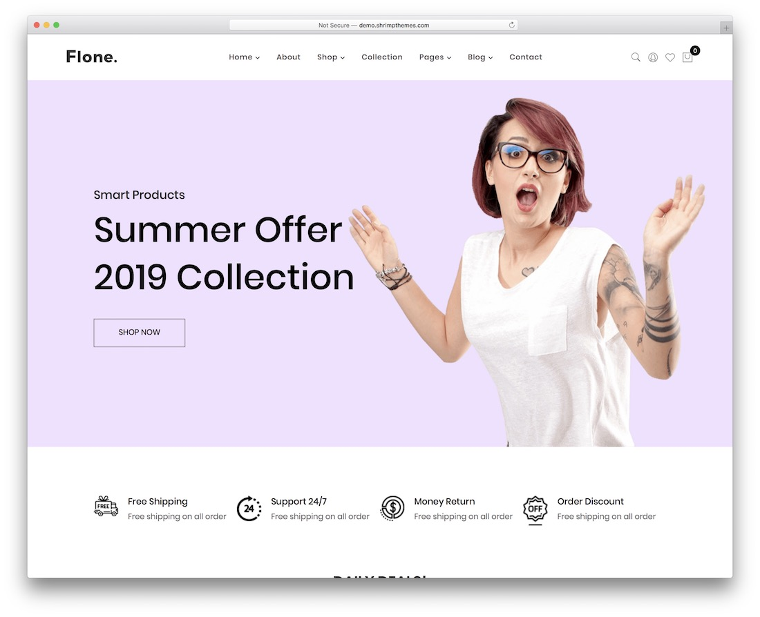 flone simple website template