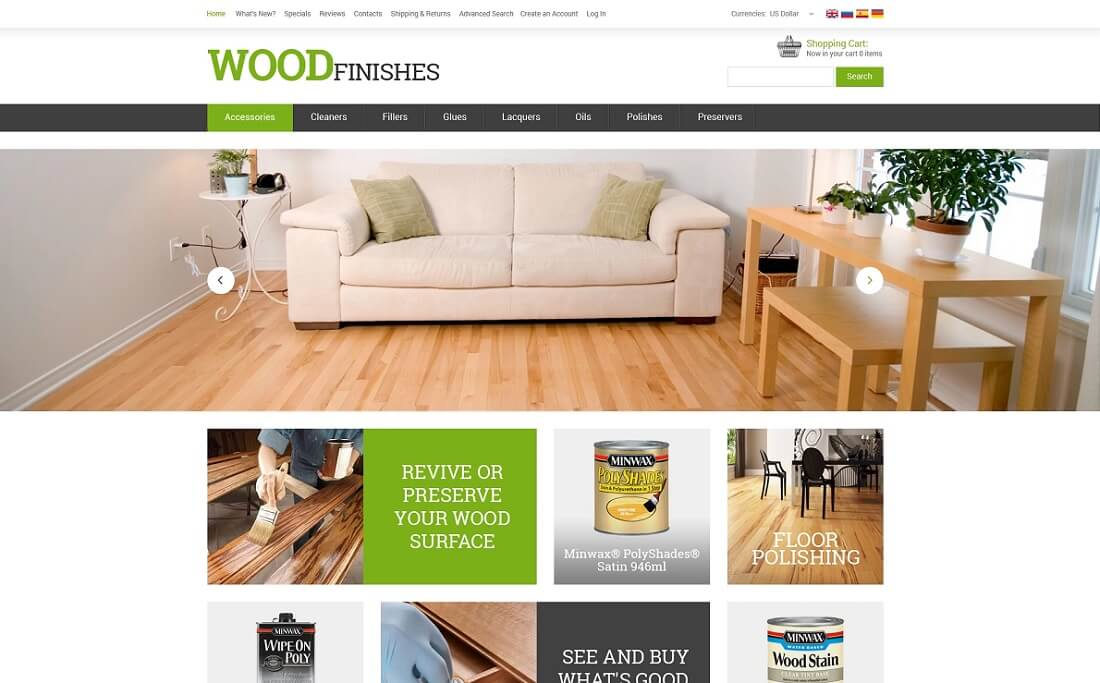 flooring oscommerce template