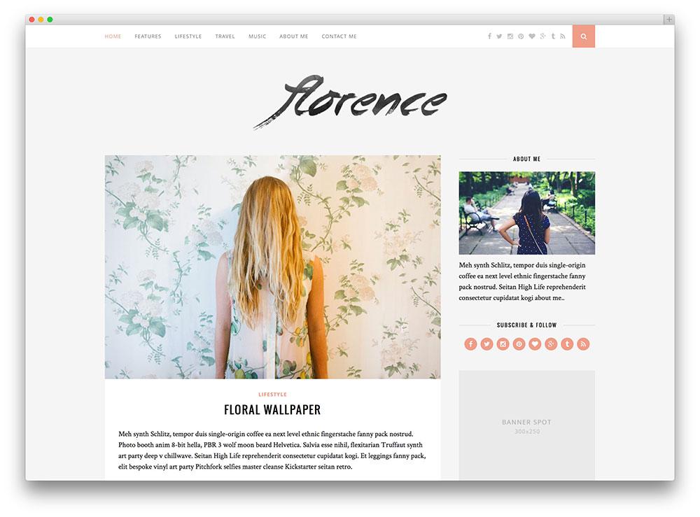 florence - awesome blog theme
