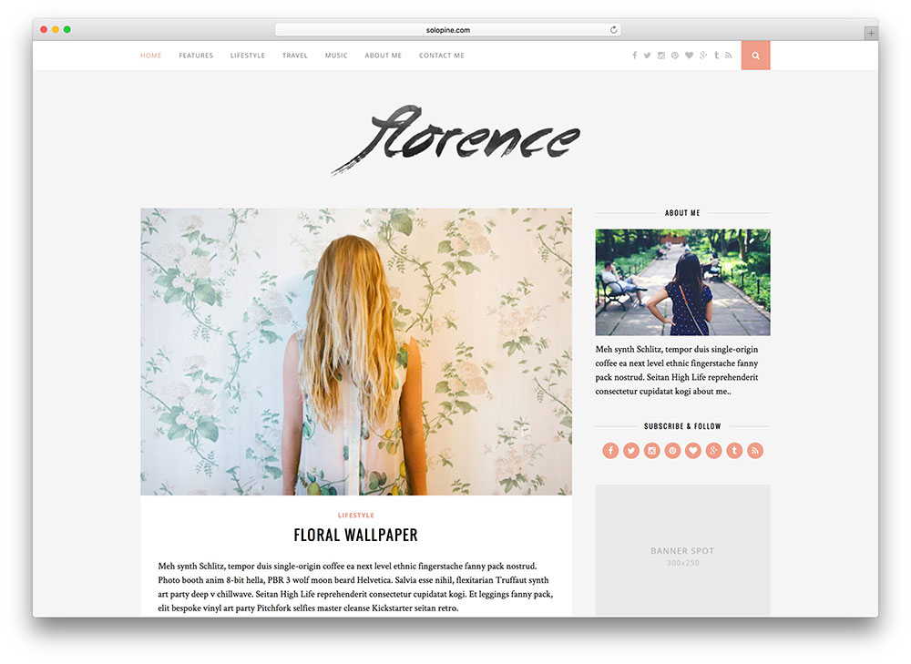 florence-most-popular-blog-theme