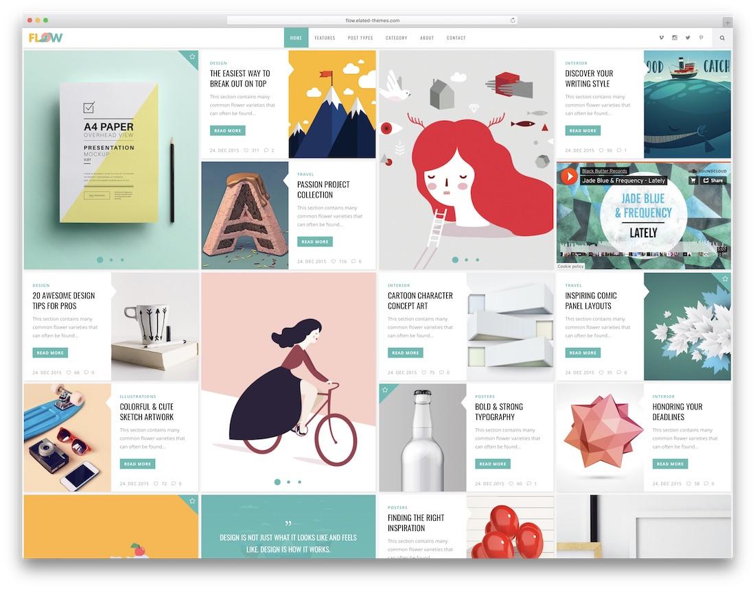 flow cute wordpress theme