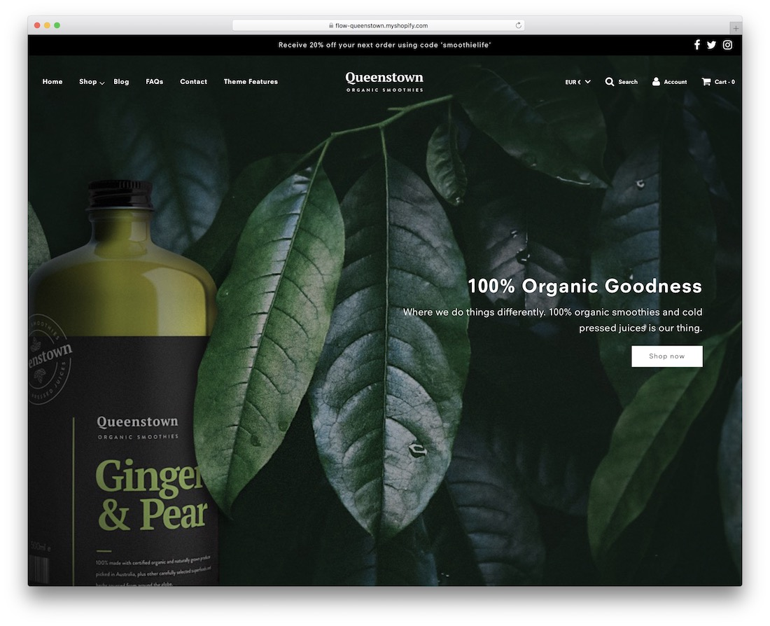 flow single product shopify theme