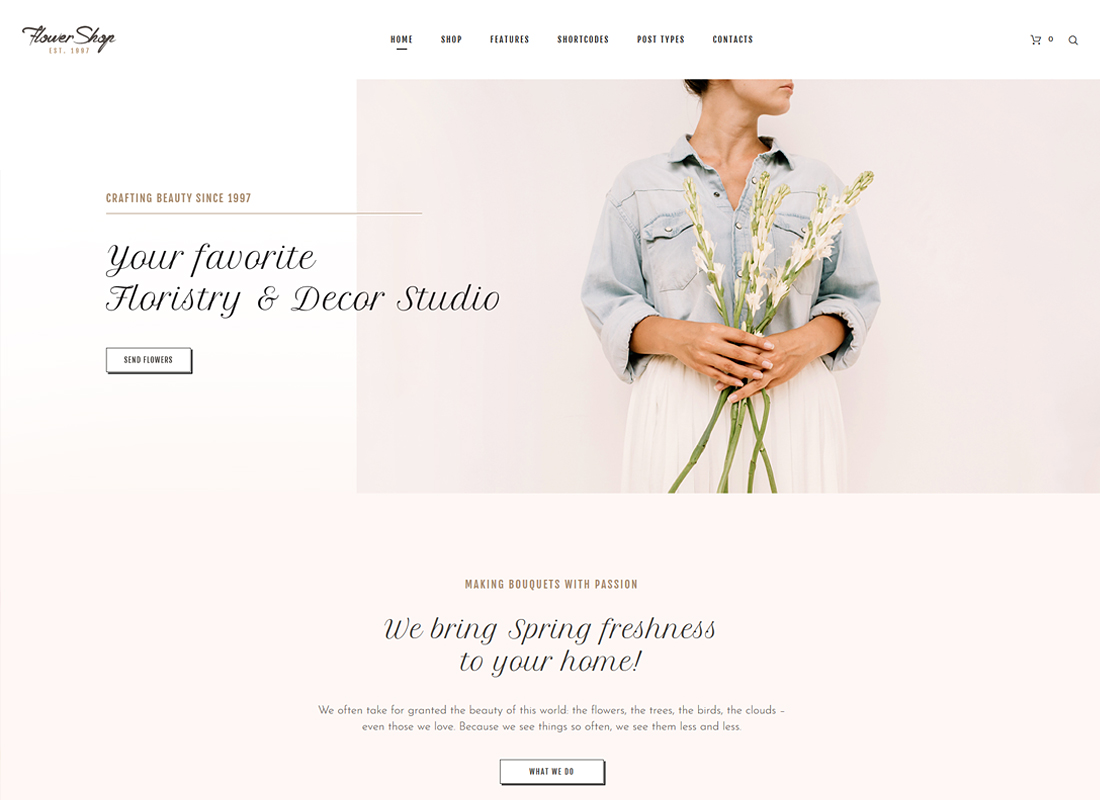 Flower Shop | Florist Boutique & Decoration Store WordPress Theme
