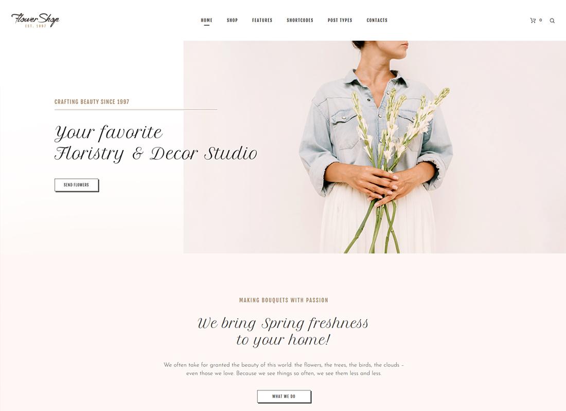 , Top 8 Flower Shop WordPress Themes 2021, Rojak WP