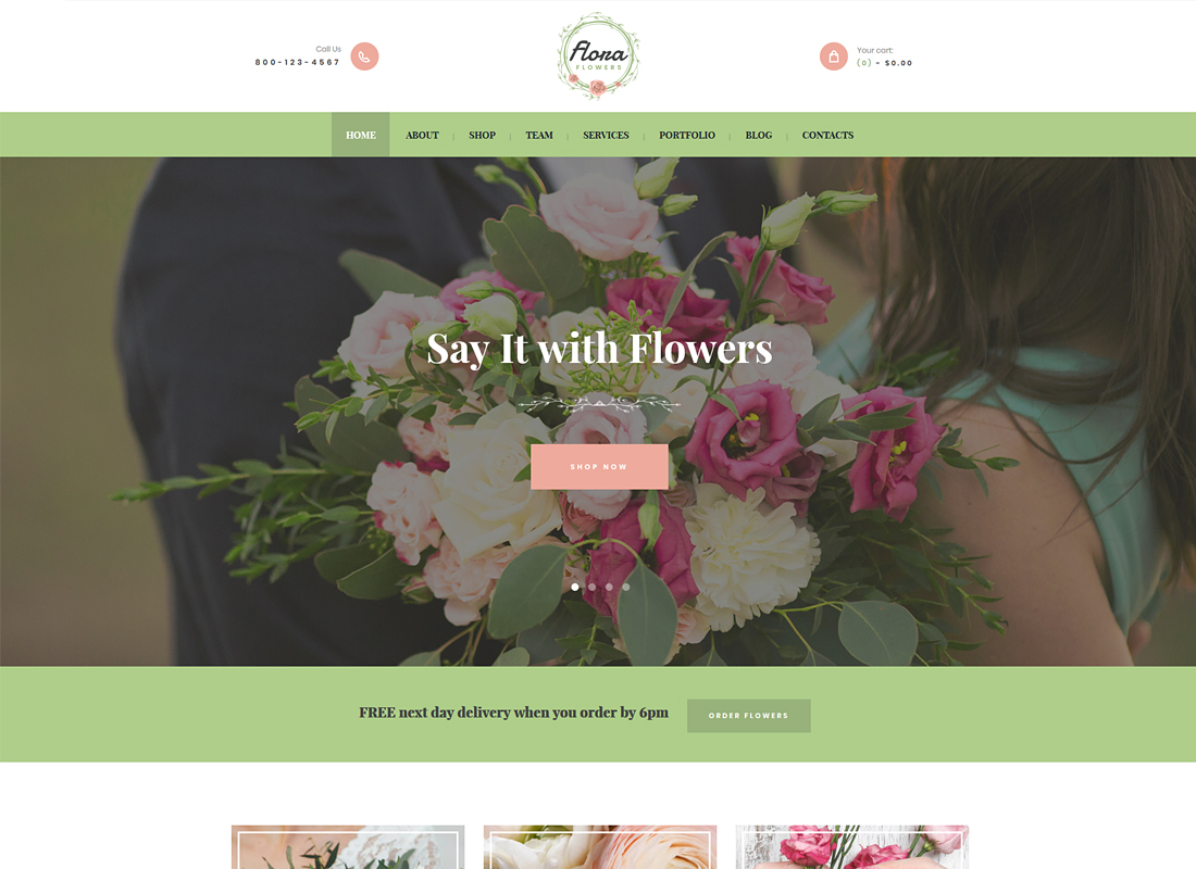 Flora | Flowers Boutique and Florist WordPress Theme