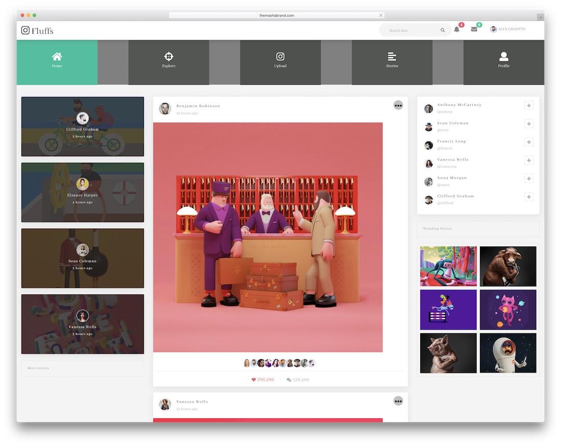 15 Best Free Premium Bootstrap Social Network Templates 2018