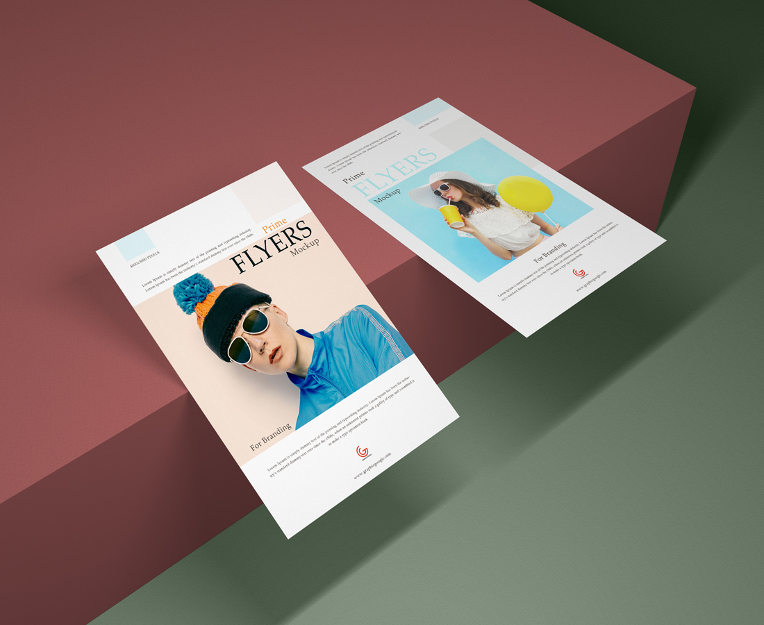 27 High-Quality Free Flyer Mockups PSD 2019
