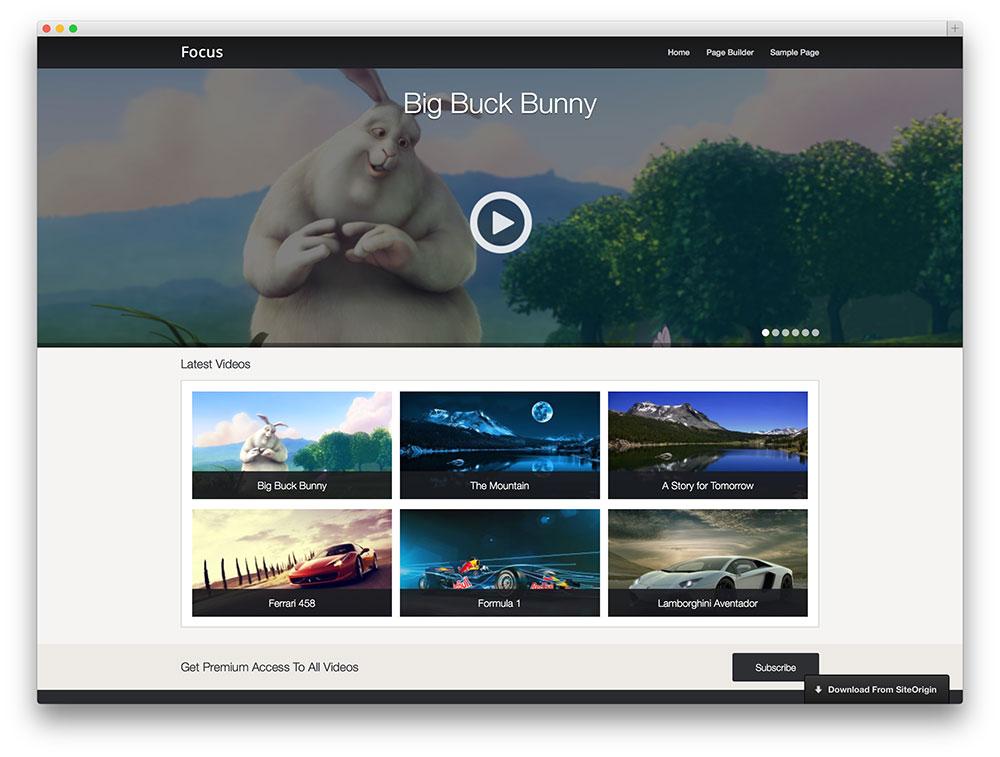 Focus video template