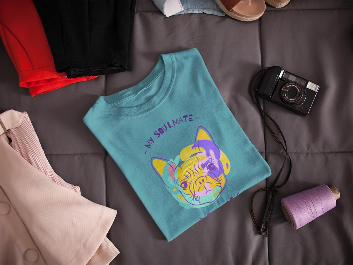 folded tshirt dog face