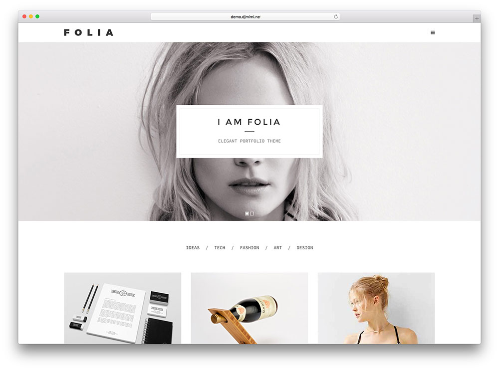 folia - very minimal portfolio theme