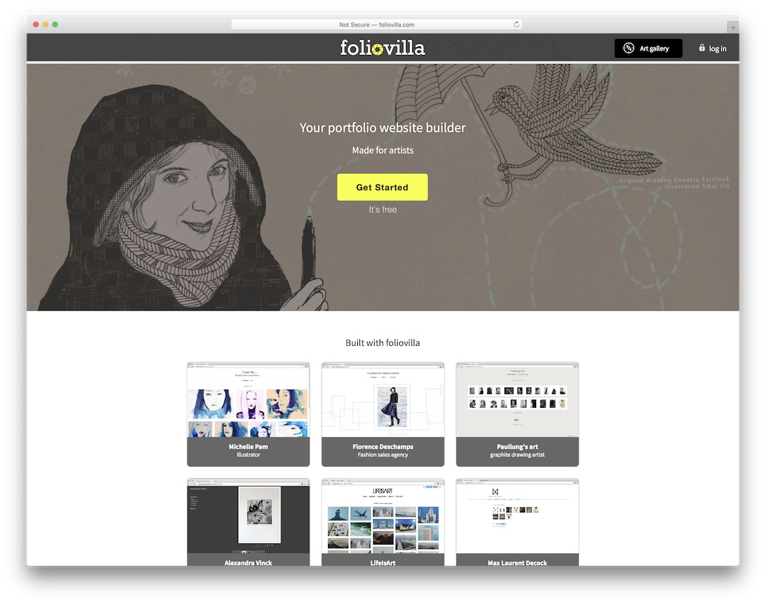 foliovilla artist website builder