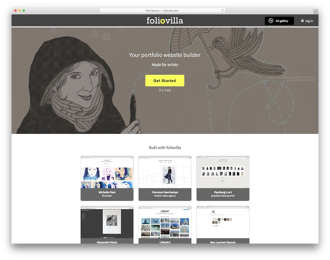 foliovilla free portfolio website builder