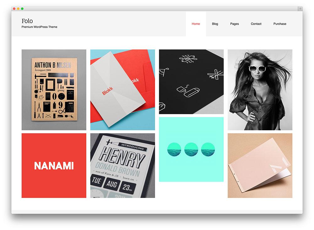 folo creative portfolio theme