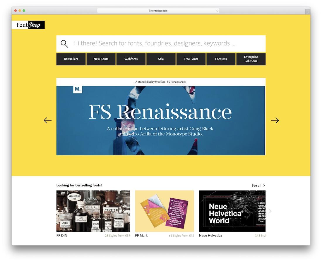 fontshop free typography resource