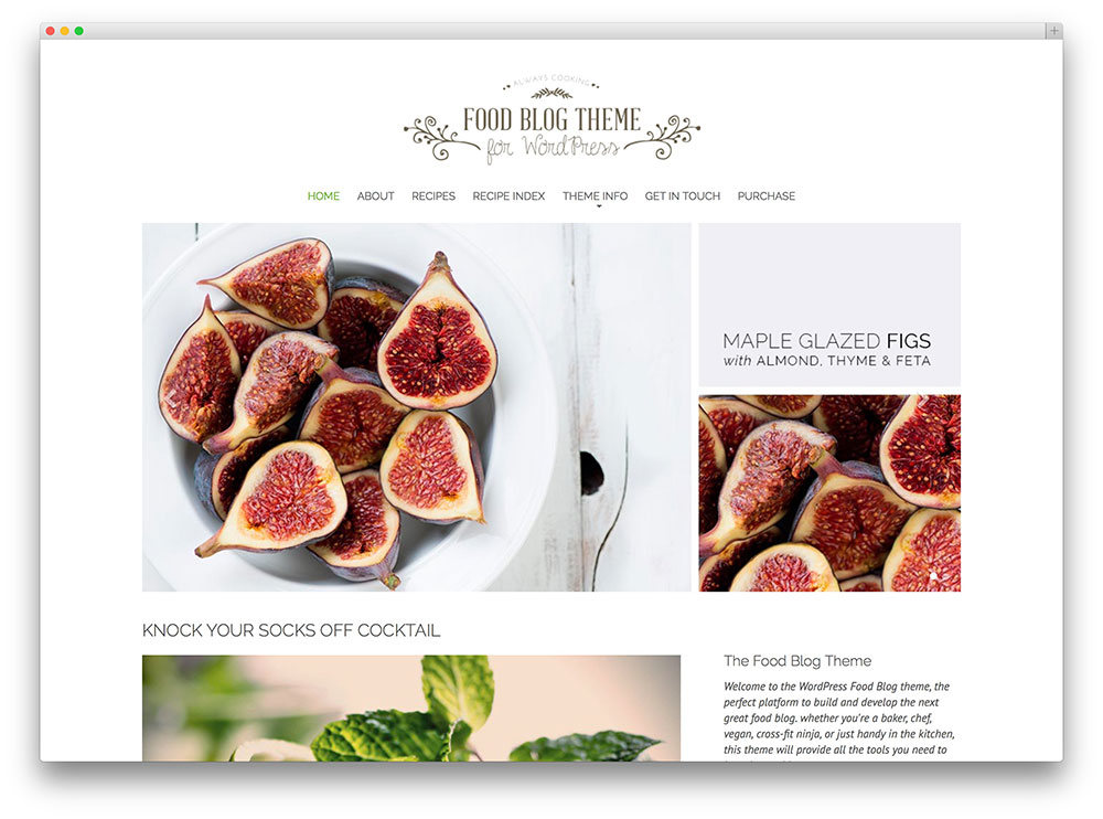 word press tutorials start theme food blogs