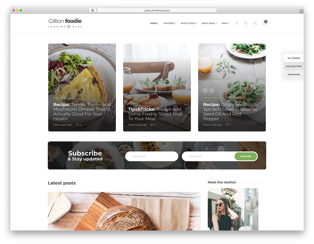31 Beautiful And Mobile Friendly WordPress Food Blog Themes For Foodies, Chefs And Photographers 2019