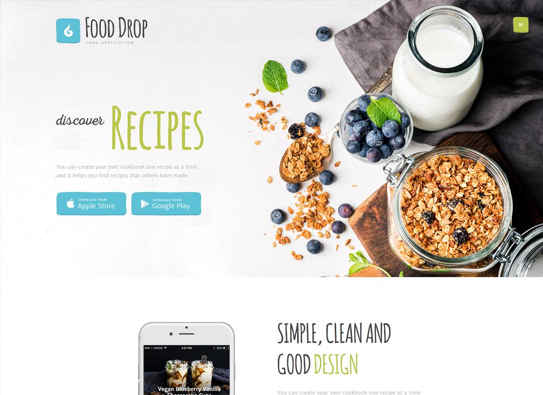 Food Drop - Food Ordering & Delivery Mobile App WordPress Theme