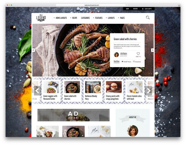 30 Best Food Recipes WordPress Themes 2017