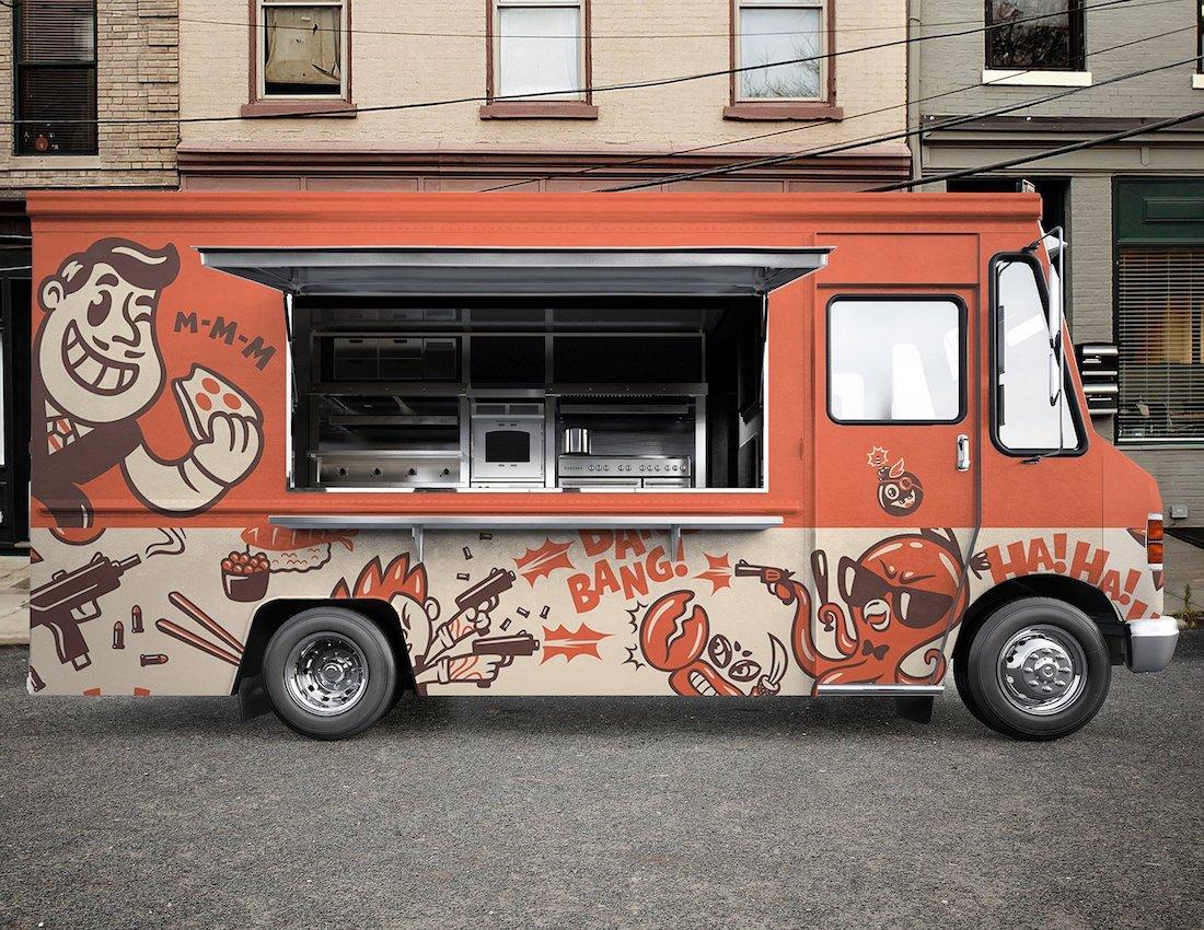 19 Best Food Truck Mockup Templates 2019
