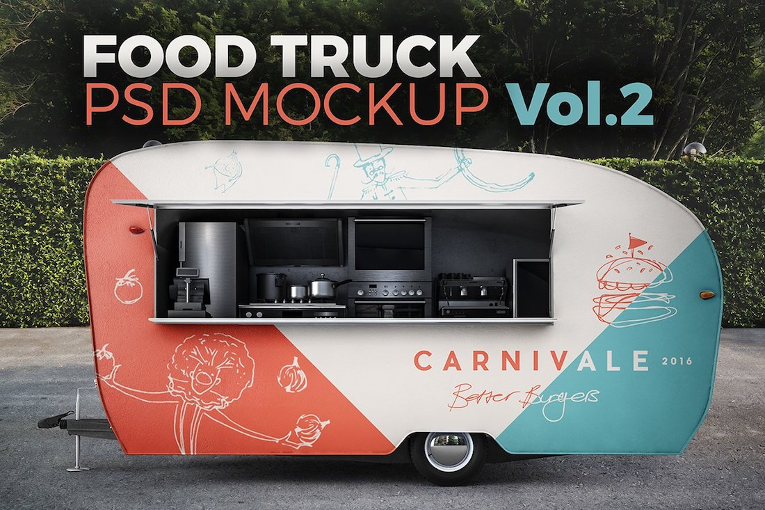 food truck vol.2. psd mockup