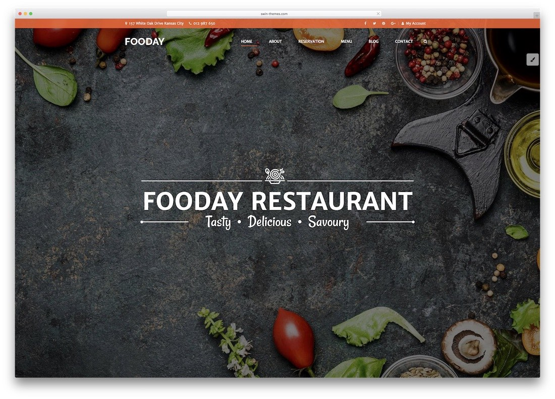 fooday html5 website template