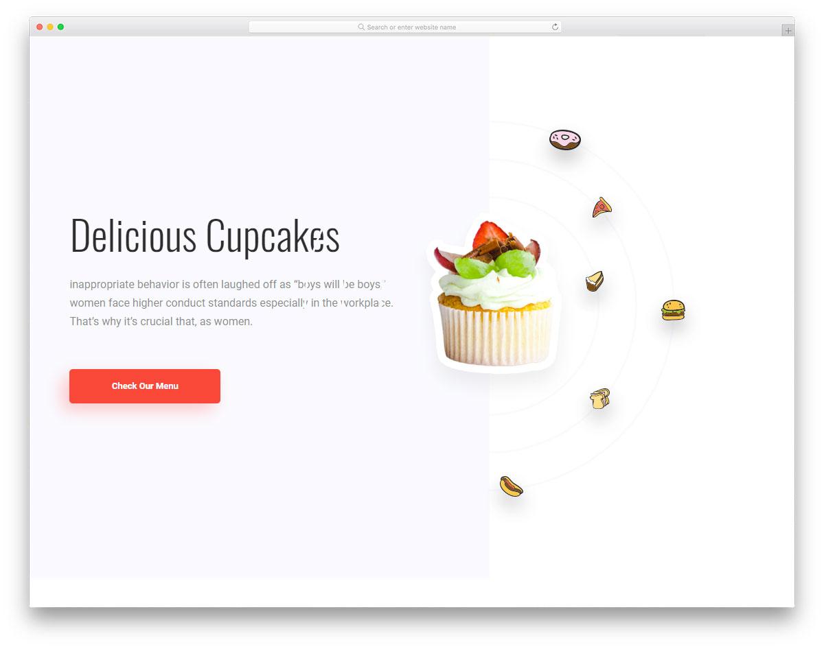 Скачать бесплатно html шаблон Foodbar