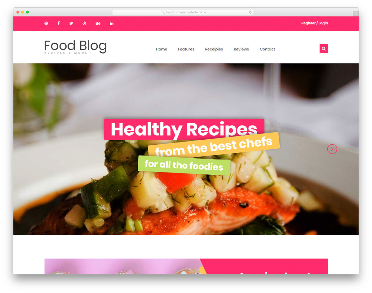 Foodblog Free Template