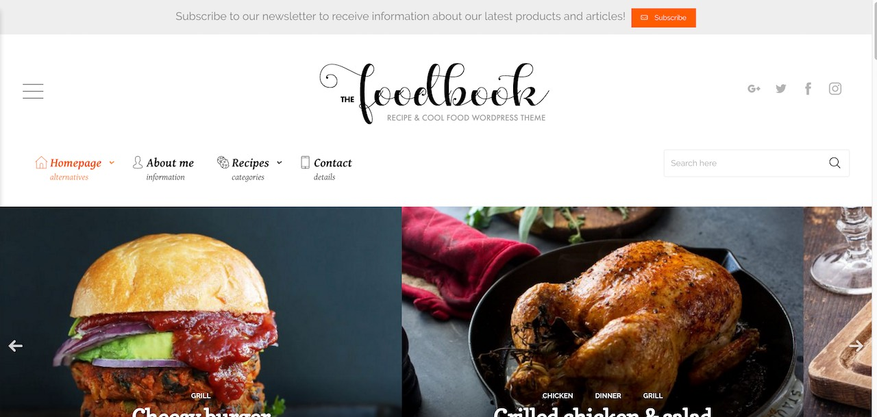 30 best food recipes wordpress themes 2017 colorlib foodbook recipe community blog food restaurant theme cl forumfinder Gallery