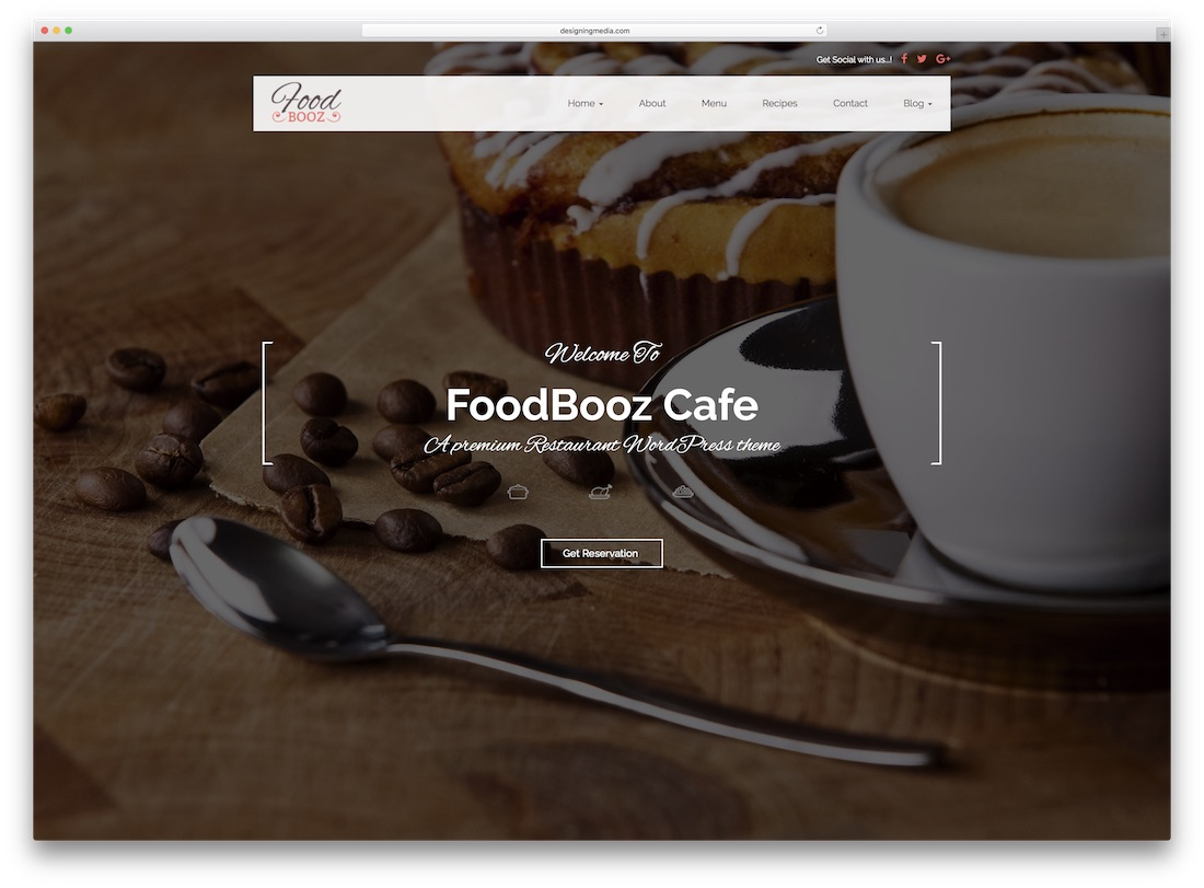 foodbooz catering wordpress theme