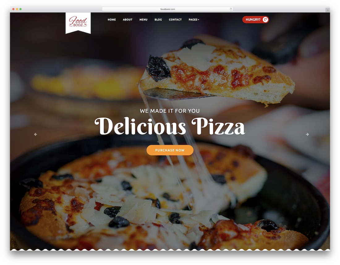 foodbooz cheap website template