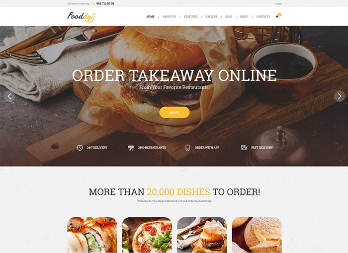 Fooddy 24/7 | Food Ordering & Delivery WordPress Theme