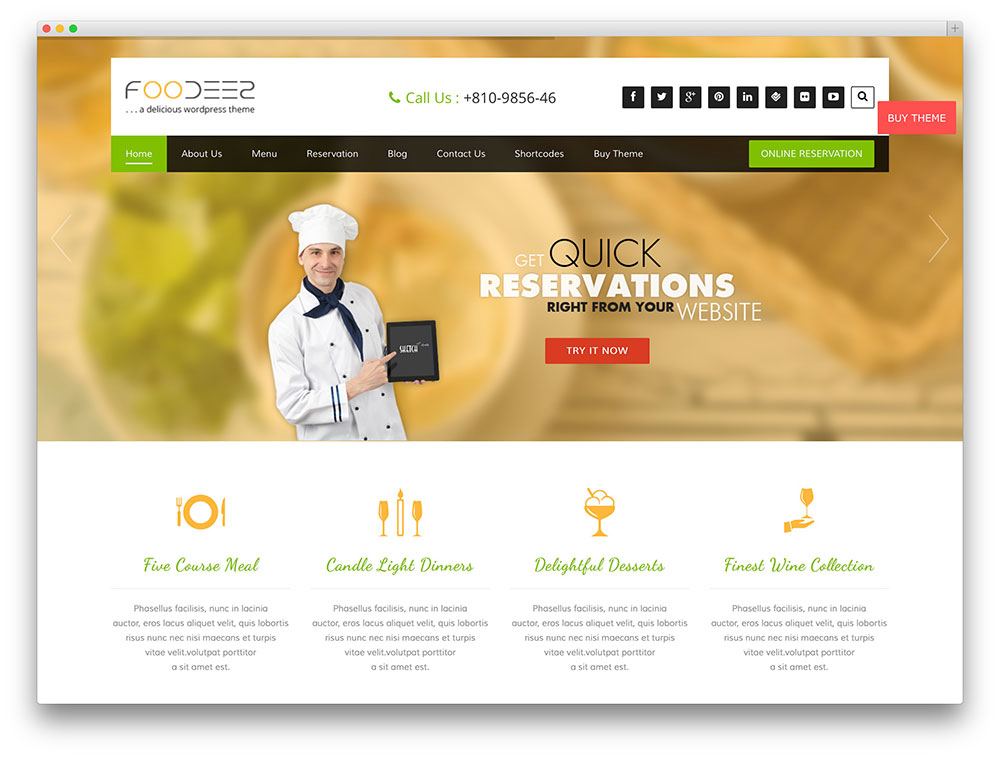 foodeez restaurant theme