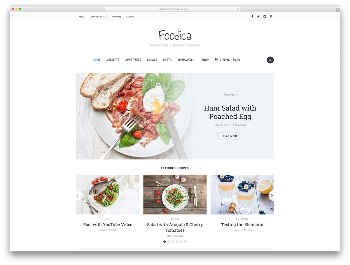 foodica-minimal-wordpress-food-blog-theme
