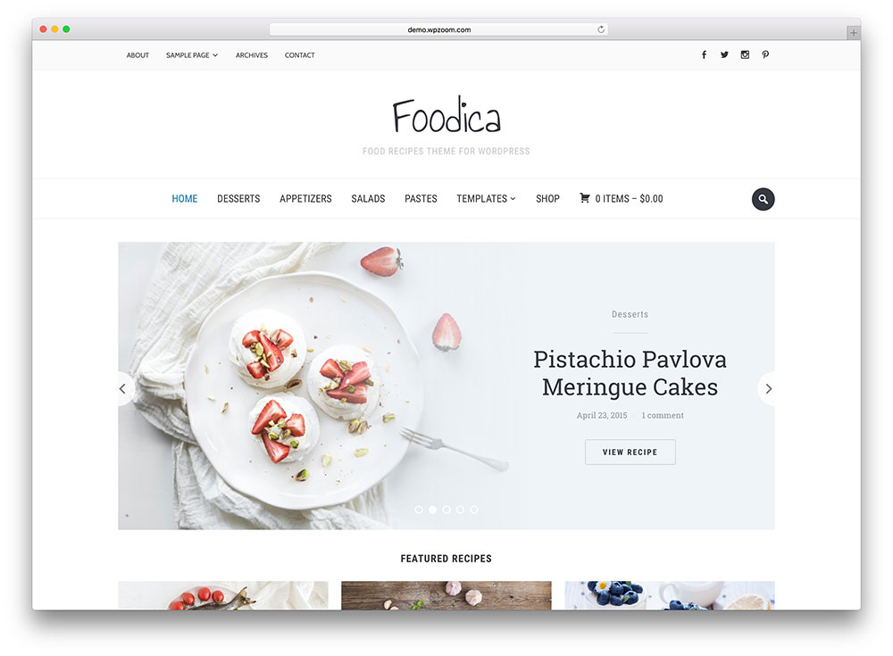 25 Awesome Food Wordpress Themes To Share Recipes 2018