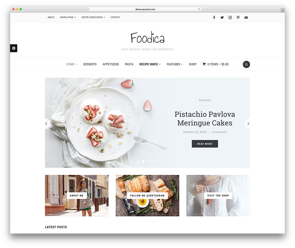 32 Beautiful WordPress Food Blog Themes 2019 - Colorlib