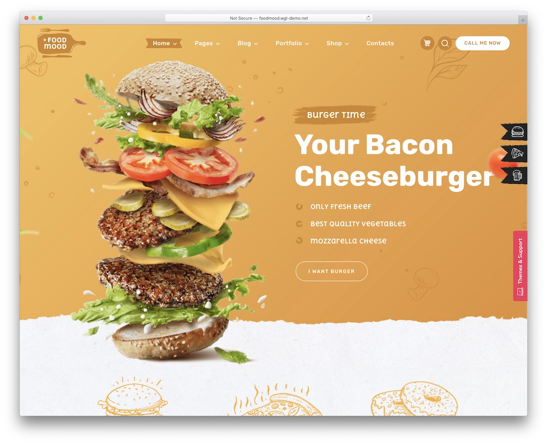foodmood wordpress restaurant theme