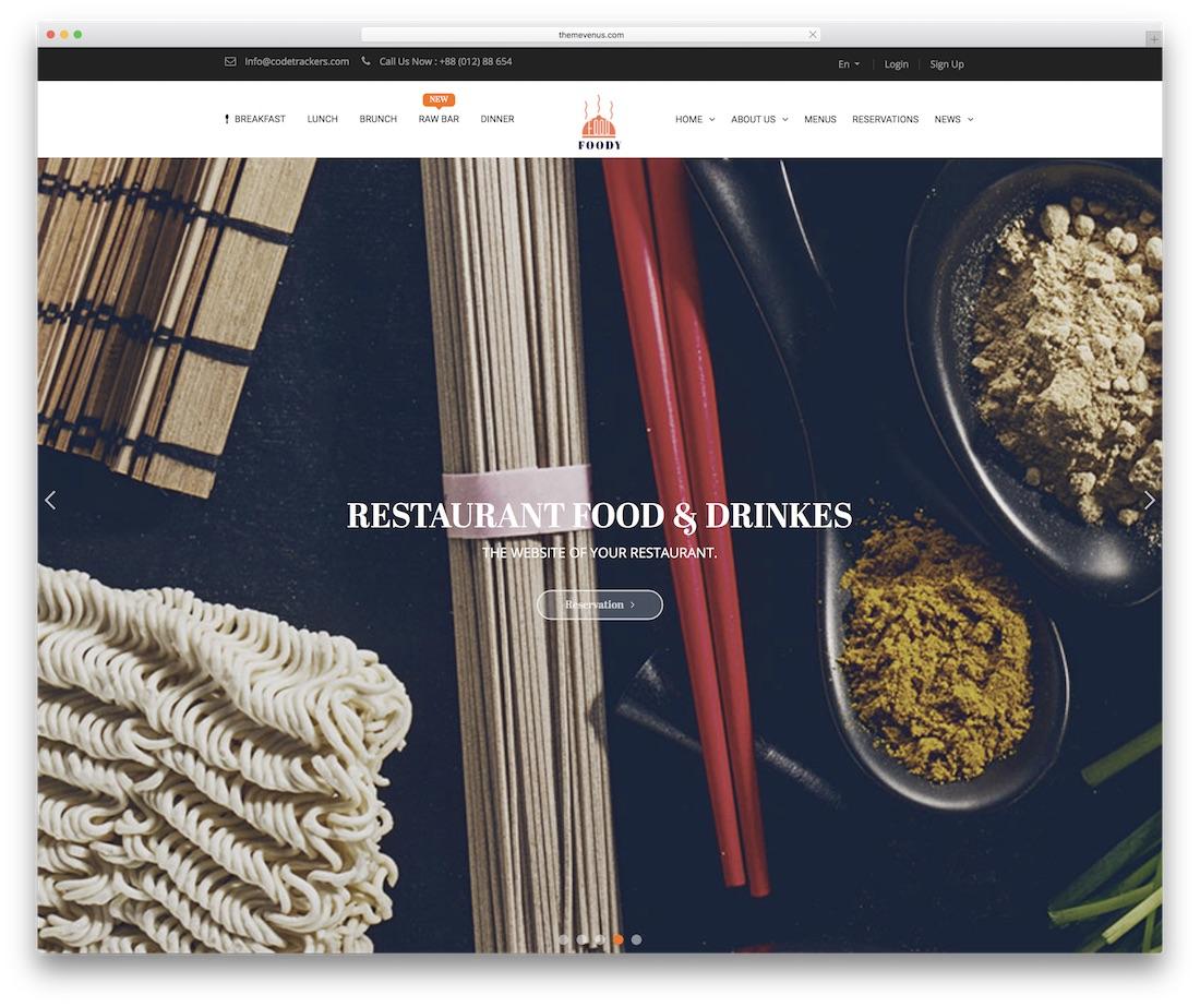 foody food website template