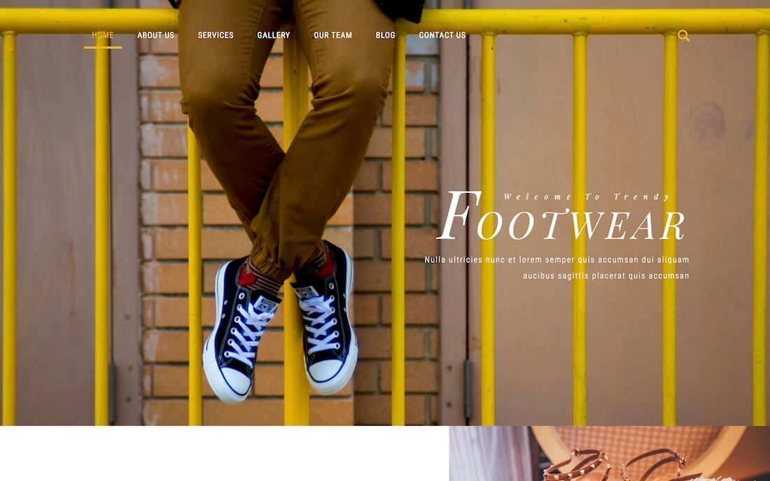 footwear free fashion website template
