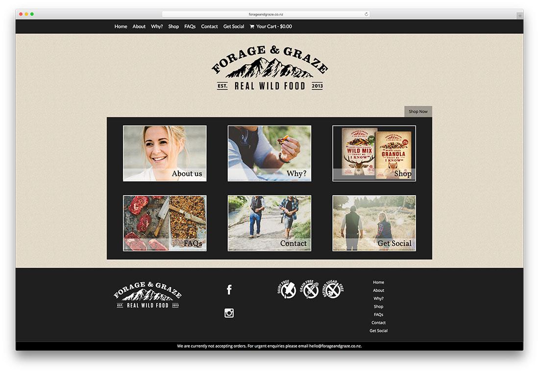 forageandgraze-heathy-food-woocommerce-website