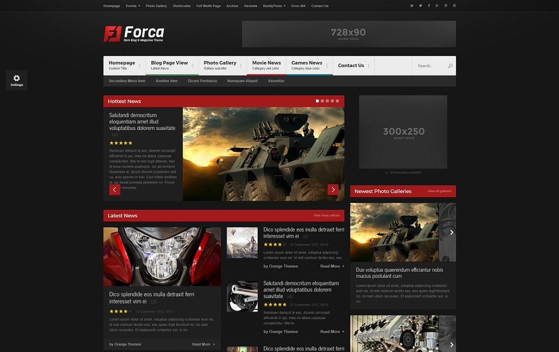 forca gaming HTML website template