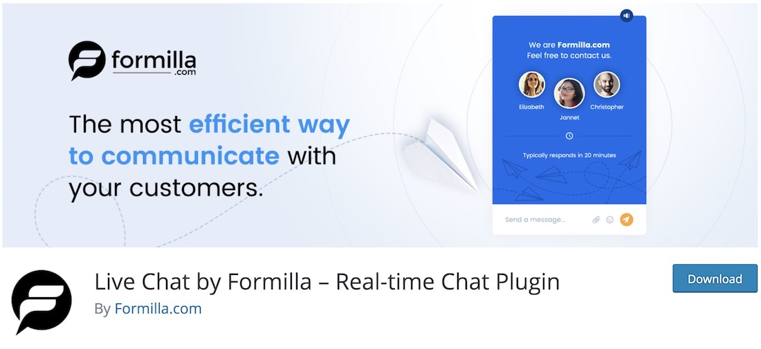 formilla customer service support plugin for wordpress