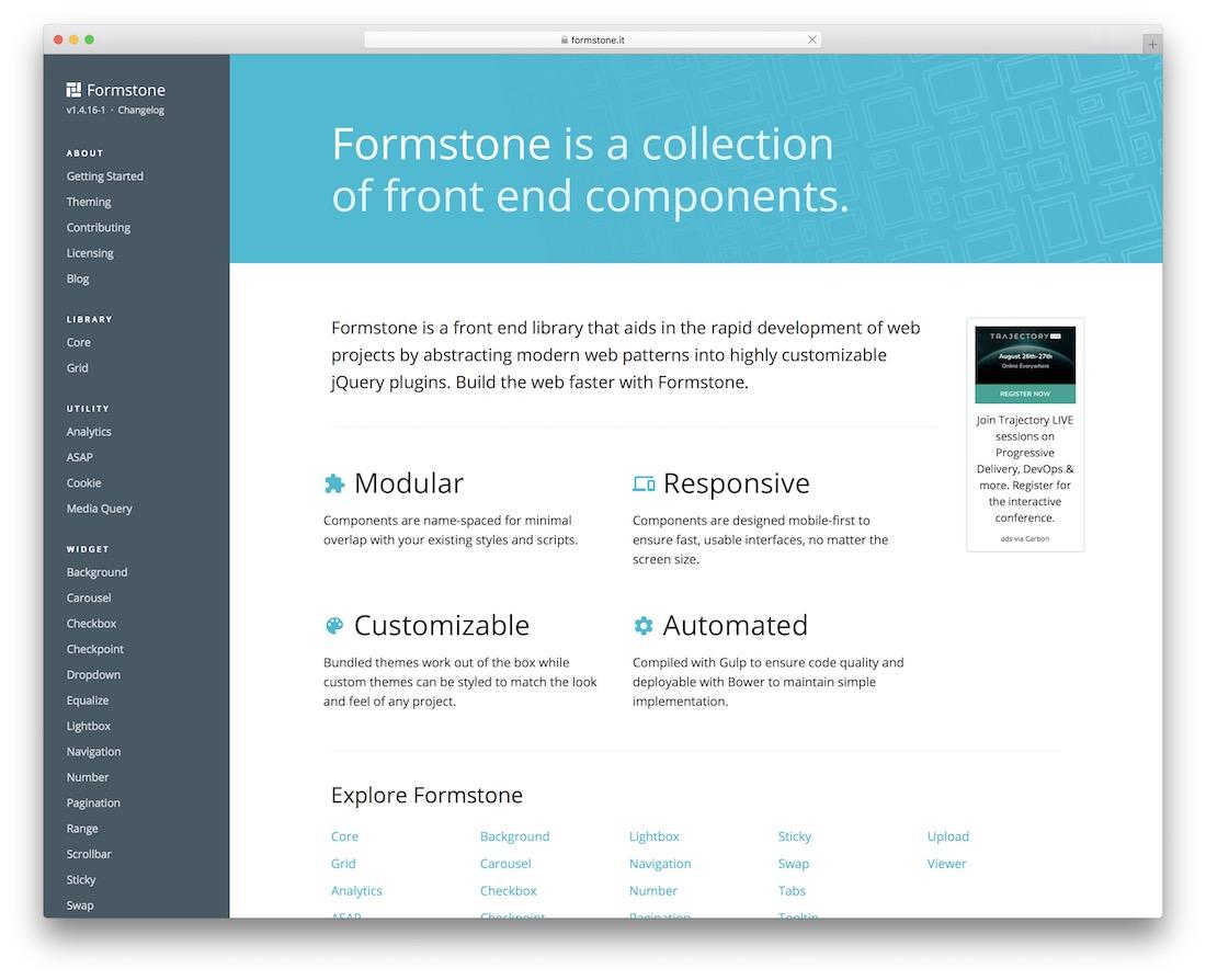 formstone grid framework
